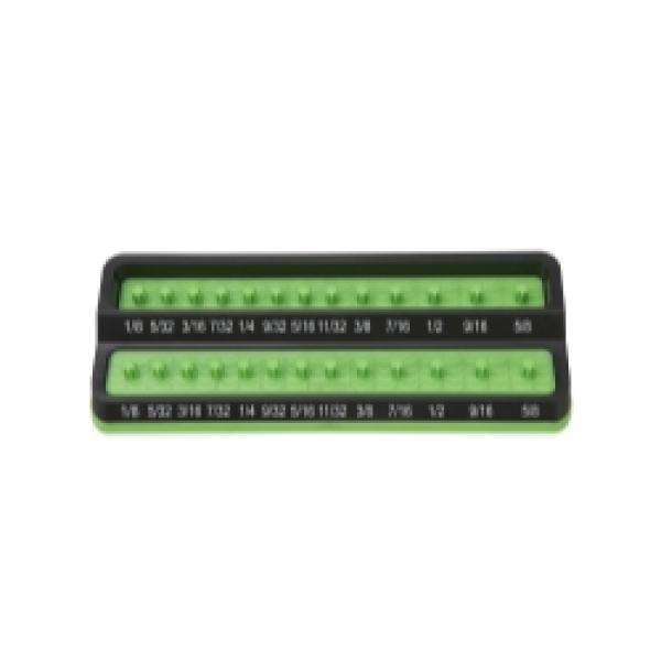 """1/4"""" SAE Peg Socket Holder - Green"""
