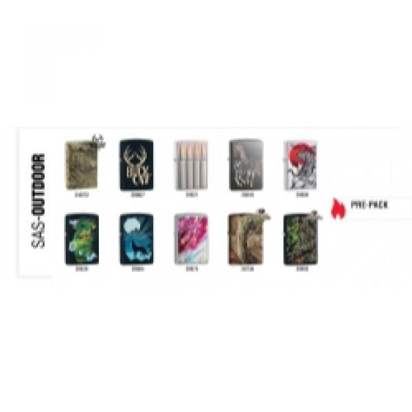 Zippo 10-Piece Lighter Assort Outdo