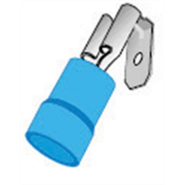 (Z10) Nylon Blue Piggyback (22-18) (Bag 100)