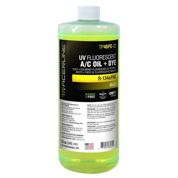 32oz Bottle PAG 46 A/C Oil w/ Dye