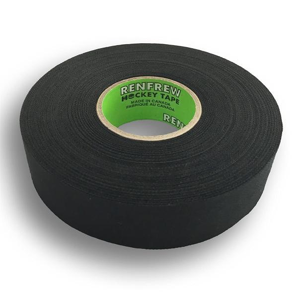 "Renfrew Cloth Hockey Tape, 1"" Str Edge Blk, 25m"
