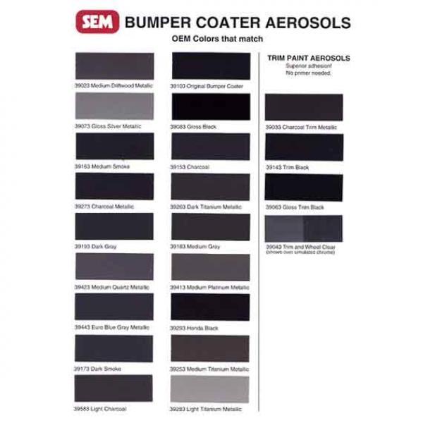 Sem Products 39293 Honda Black 12 Oz Aerosol Bumper Coater Sem39293