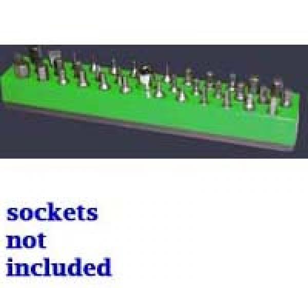 Magnetic Dark Green 37 Piece Bit Holder Mechanics Time Saver 586 1//4 in