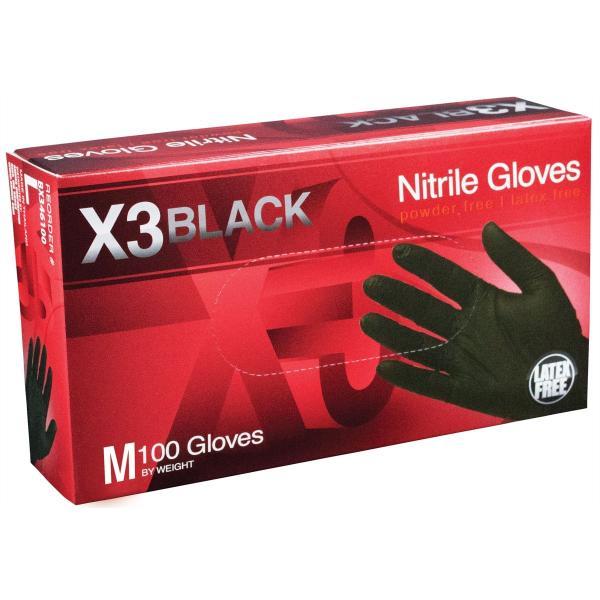 M X3 Powder Free, Textured, Black Nitrile