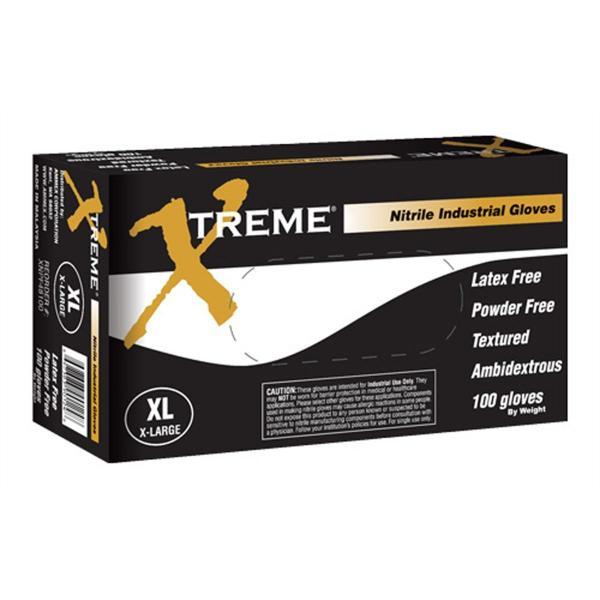 XL Xtreme Powder Free, Textured, Blue Nitrile