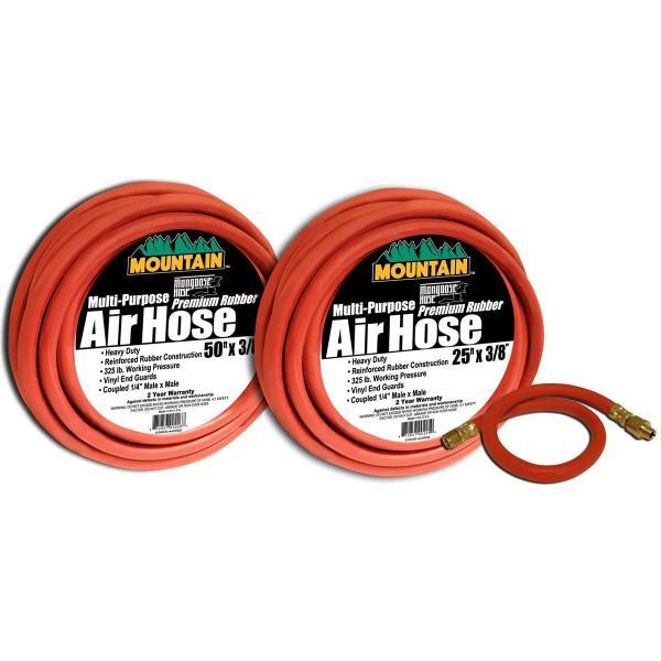 "3/8"" Multipurpose 325 # Air Hose Promo Pack - USA"
