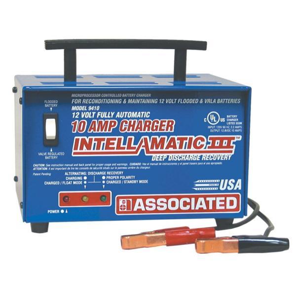 Associated Equipment 9410 Portable Battery Charger 10 Amp/12V/50