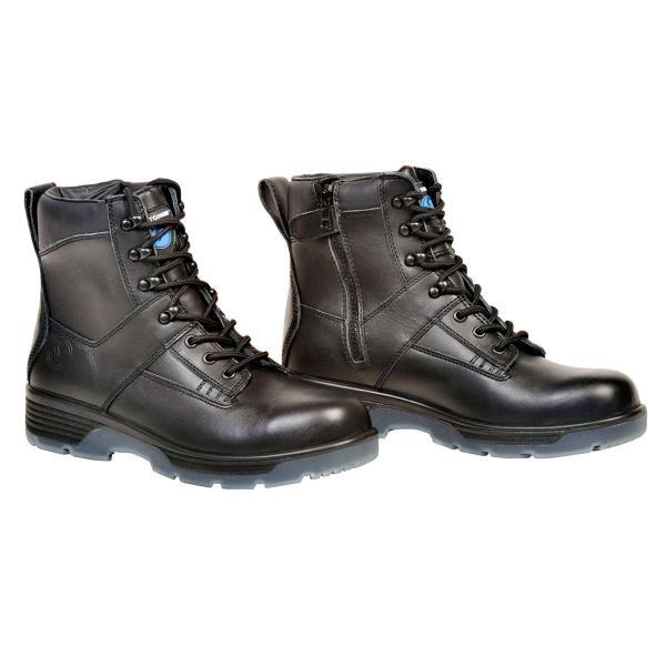 "Black 6"" Lace up Side Zipper Composite Toe Boot"