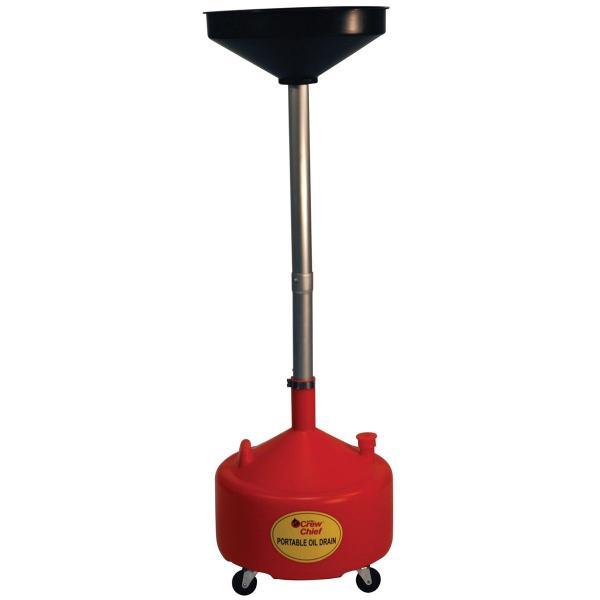 8 Gallon Poly Portable Oil Drain
