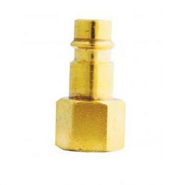 "V-Style Hi-Flow Brass Plug - 1/4"" Female NPT"