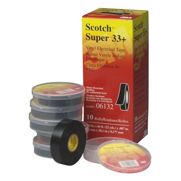 Scotch(TM) Vinyl Plastic Electrical Tape - 3/4 In x 52 Ft
