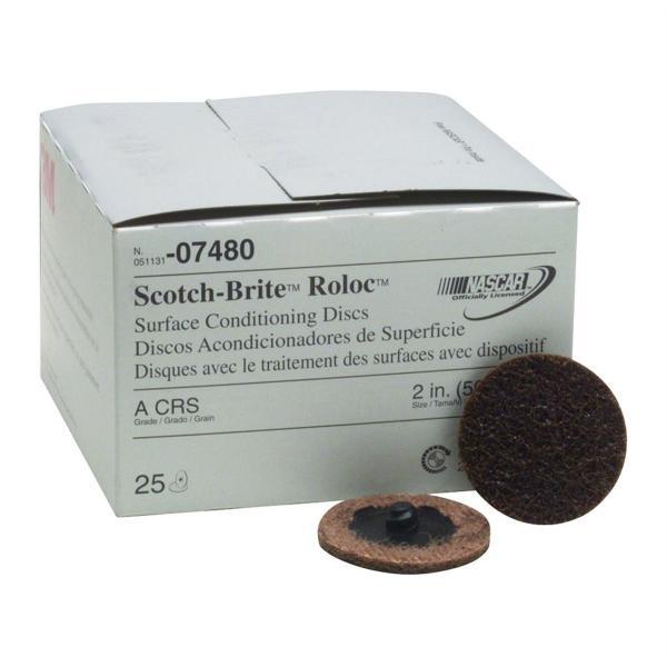 Scotch-Brite Roloc Surface Prep Discs 2 In Coarse 25/Box