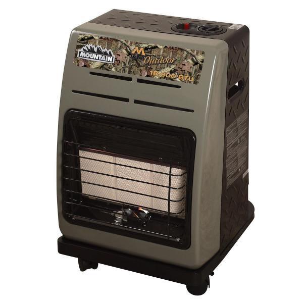 Portable LP Cabinet Utility Heater Propane 18,000 BTU