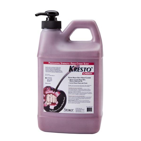 KRESTO Cherry Hand Cleaner 1/2 Gal Pump Top Bottle