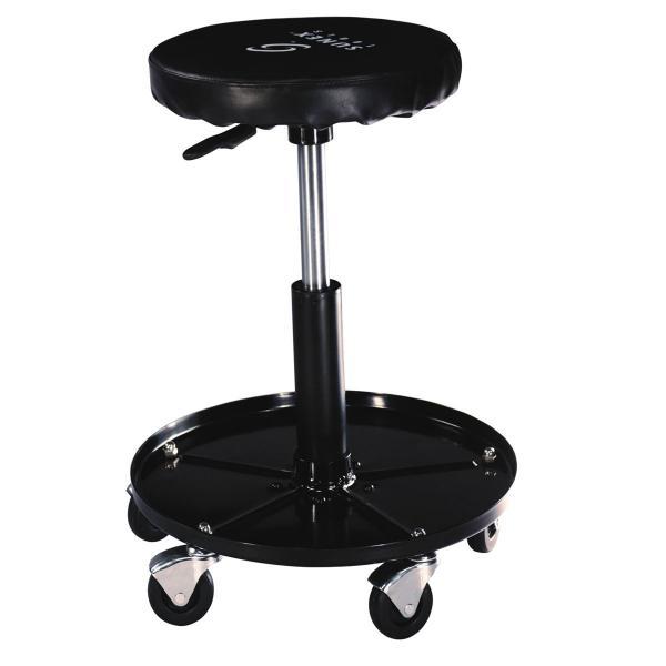 3907 Reinforced Vinyl Seat AFF Adjustable Air Piston Mechanic Creeper Seat
