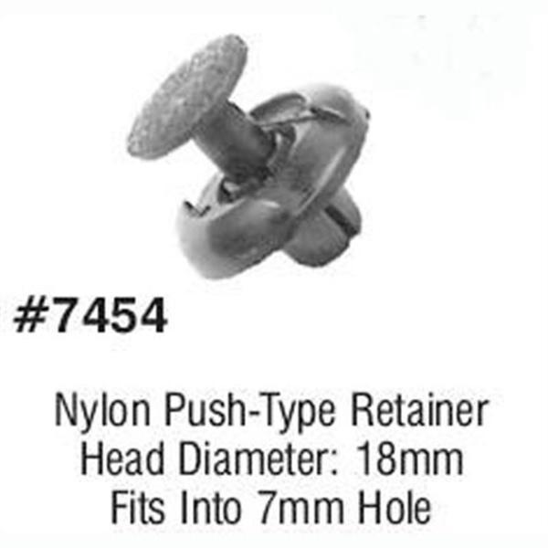 Toyota push type retainer